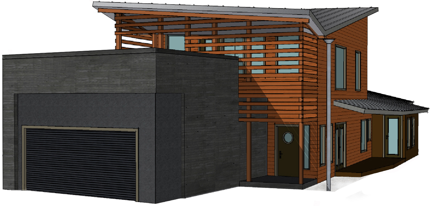 modern home plan contemporary house plan