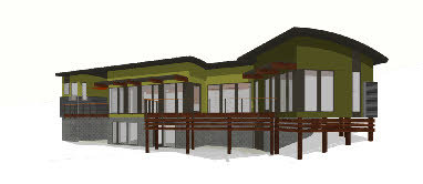 european style mdoern house home plan